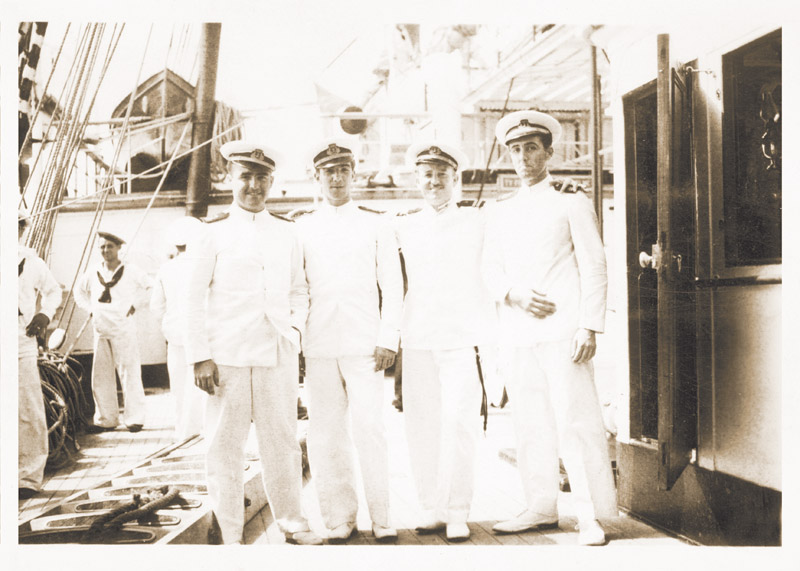 A group of officers during the 1st Training Cruise