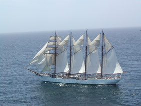 She is a four mast brig-schooner