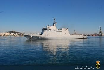 The Maritime Action Ship (BAM) 'Rayo' set sail from Cartagena to take part in Operation 'Atalanta'