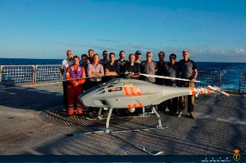 The Spanish Navy has concluded integration trials of an unmanned air vehicle in Canary Islands waters on board the Maritime Action Ship 'Relámpago'