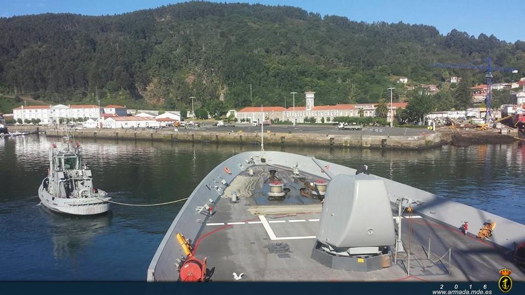 La fragata ha regresado hoy a su puerto base en Ferrol
