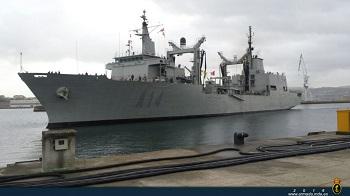 El Buque de Aprovisionamiento de Combate Patiño entrando en su puerto base en Ferrol