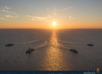 Training SNMG-1 at sunset