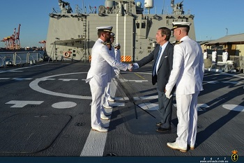 The Spanish Ambassador to Australia visited the ship