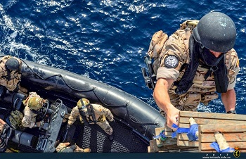 VBSS squad boarding the South-Korean destroyer.