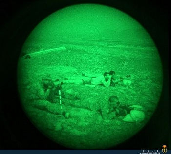 Sharp shooters with night vision devices.