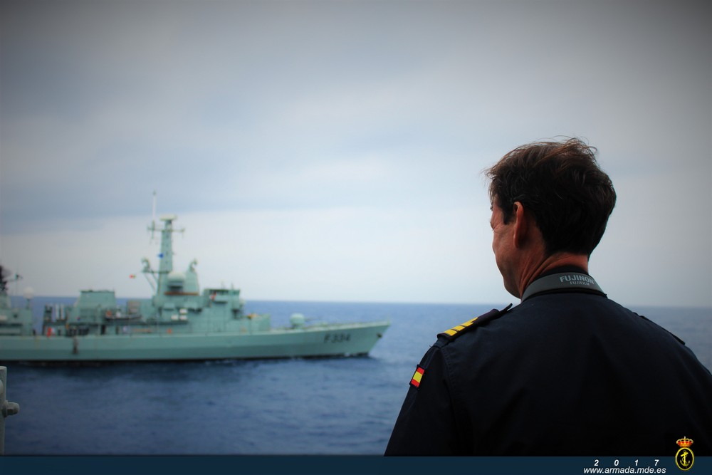 CO of frigate 'Numancia' during exercise MARE APERTO