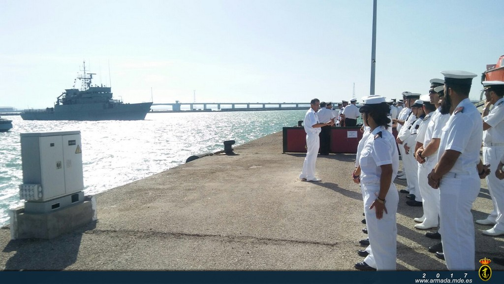 Arrival of the OPV at Puntales