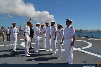 Visit of French Rear admiral Denis Bertrand