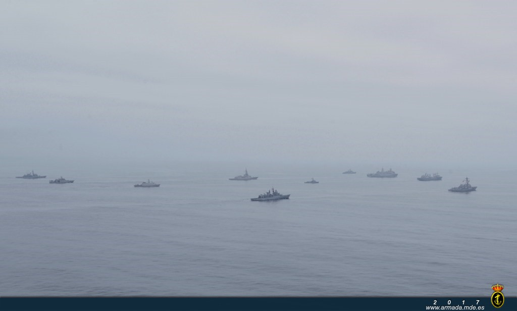 Different warships during exercise UNITAS