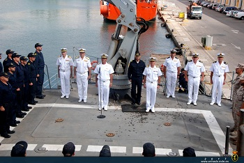 Farewell ceremony in port