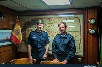 The Norwegian Commodore and the frigate's Commanding Officer