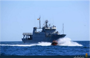 Offshore Patrol Vessel 'Alborán' during NAFO's campaign