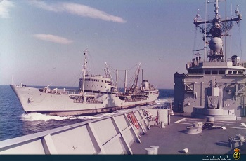 Replenishment at sea with the 'Teide' (1988)