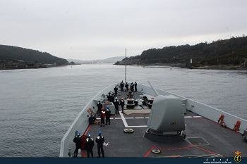 F-100 frigate 'Méndez Núñez' returns to Ferrol after