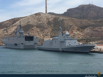 Egyptian Navy units visit the port of Cartagena