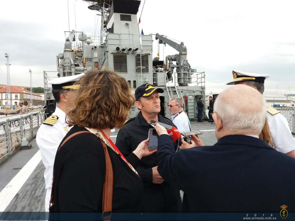 OPV 'Serviola' returns home after a four-month deployment in Africa