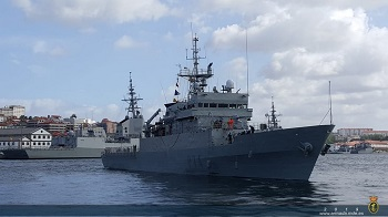 Offshore patrol vessel 'Atalaya' heads for Africa