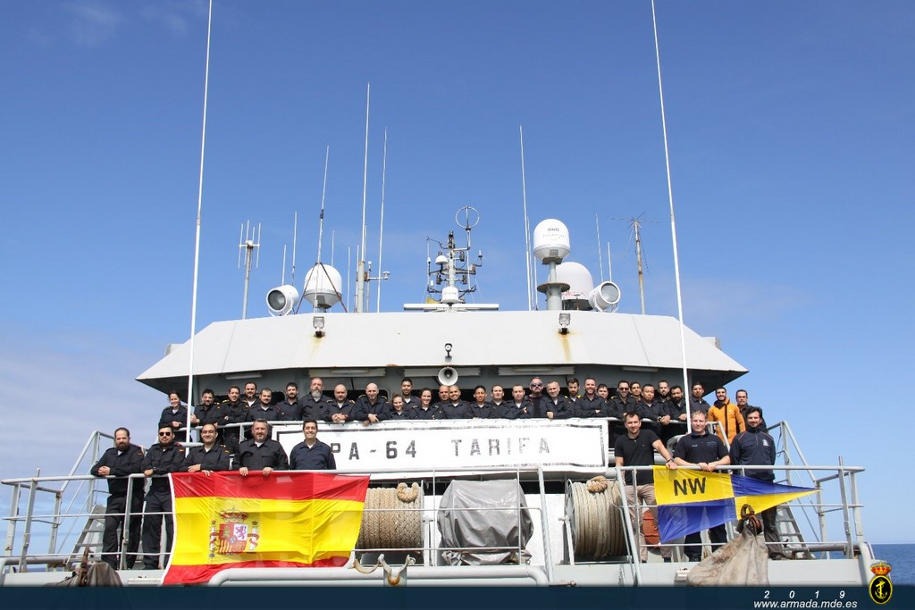 The OPV 'Tarifa' returns to her home port in Cartagena