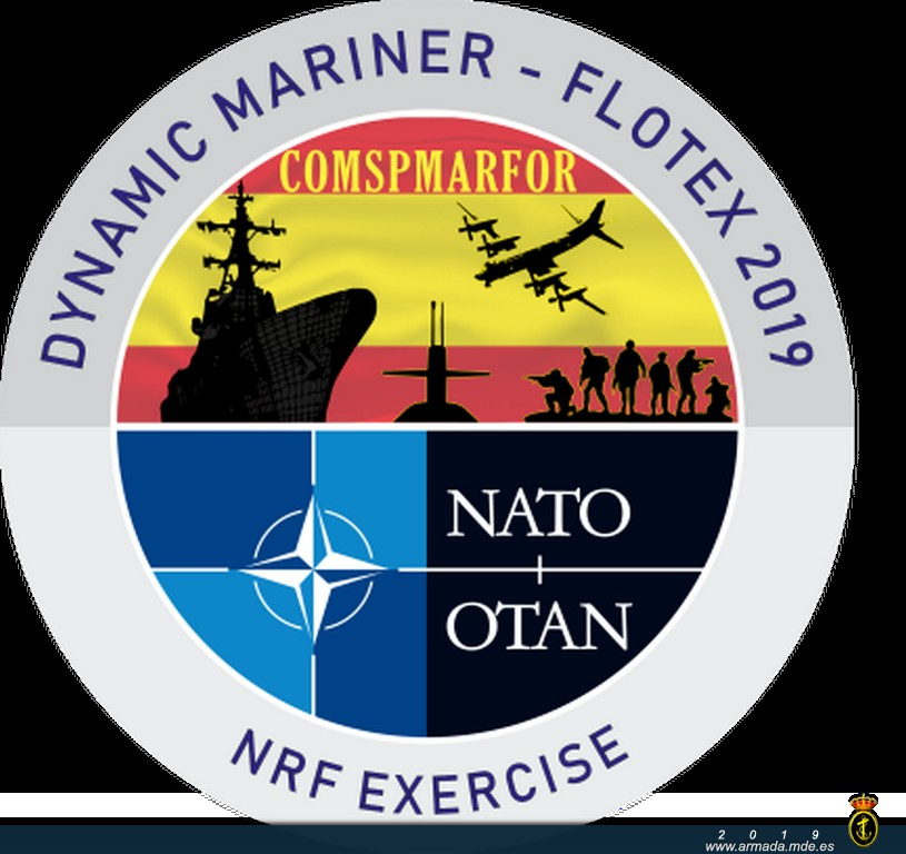 18 NATO nations participate in Exercise 'Dynamic Mariner/Flotex-19 in the South of Spain.