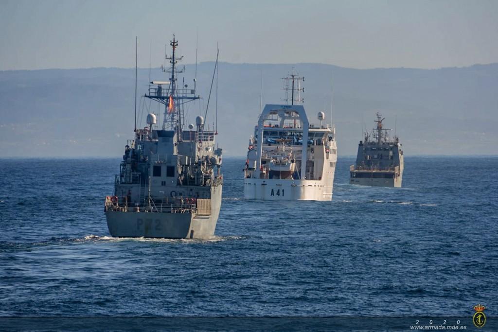 Unidades de Ferrol realizan adiestramiento en la mar durante los ejercicios MARFEX-01