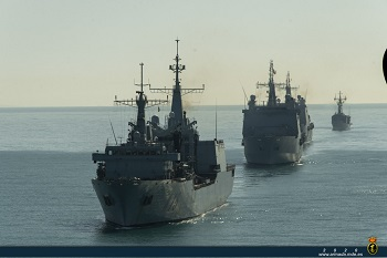 The amphibious exercise GRUFLEX-20 starts off the southwestern coast of Spain.