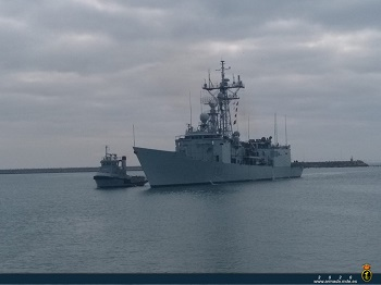 Frigate 'Victoria' returns to Rota after participating in Operation 'Atalanta'.