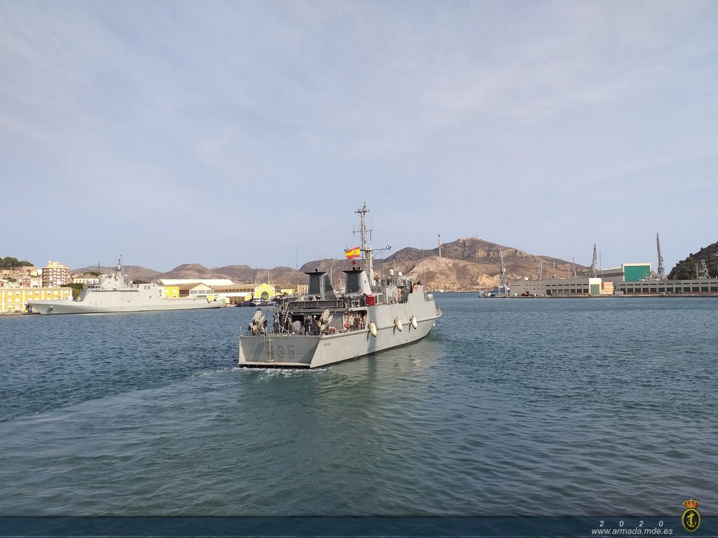 Minehunter 'Duero' departs Cartagena to integrate into NATO's Standing Mine Countermeasures Group Num. 2 (SNMCMG-2).