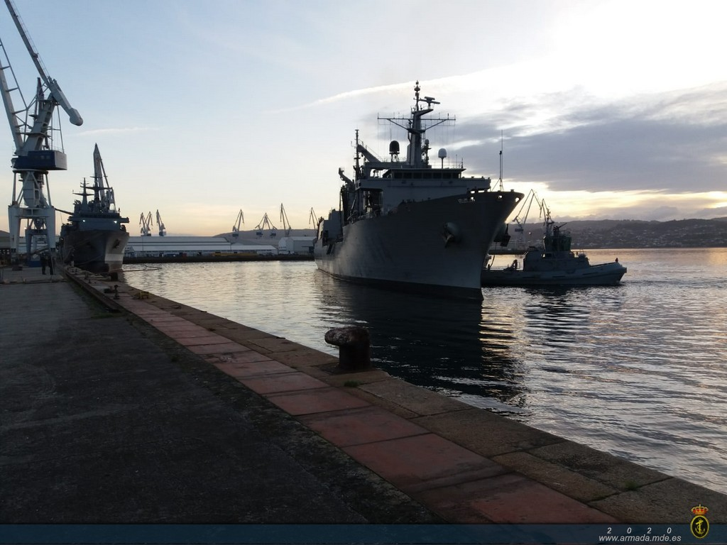 AOR 'Patiño' returns home after her integration into the Standing Maritime Group Two (SNMG-2)