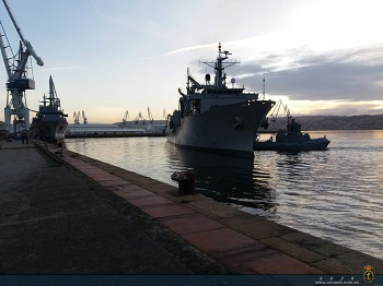 AOR 'Patiño' returns home after her integration into SNMG-2