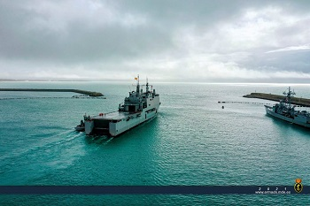 LPD 'Castilla' left Rota Naval Base to integrate into Operation 'Atalanta' in the Indian Ocean.