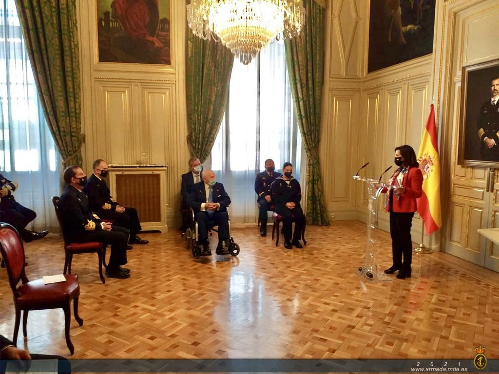 """Ceremonia de imposición del distintivo de mérito """"Juan Sebastián de Elcano"""""""
