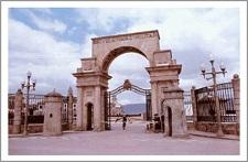 Puerta Carlos I de la Escuela Naval Militar